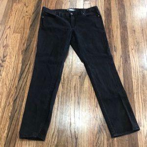 Low rise skinny leg black jeans